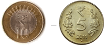This image shown the addition between two coins – Choice D