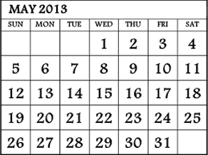This image shows the calender of 2012