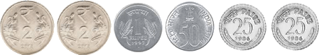 shows number of coins for Rs. 6– Choice D