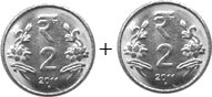 This image shown the addition of coins – Choice B