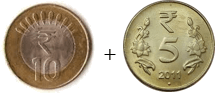 This coins show the addition between two coins – Choice D