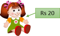 This image show the doll with cost