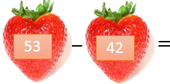 This picture shows the strawberry with its value