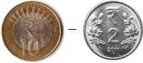 This coins show the addition between two coins – Choice B