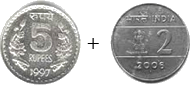 This image is addition of coins – Choice B