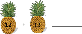 This figure shows the addition of pineapple