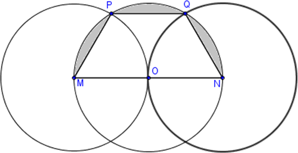 Trapezoid and semi-circle