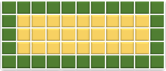 This image shows the two colours of squares