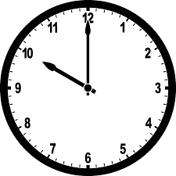 This image of clock shows the different time – Choice B