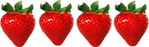 In this image shows the fruit of strawberries – Choice D