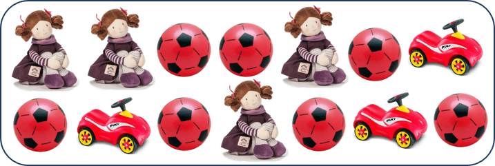 This image shows the dolls with balls