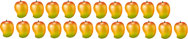 This image shows the many mangoes