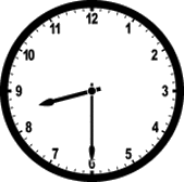 This image of clock shows the different time – Choice C