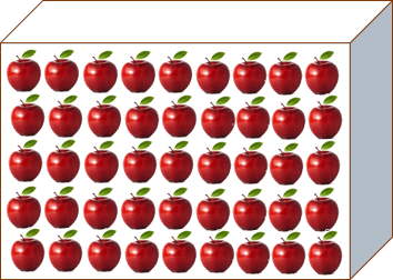 This image shows the box in many apples