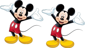 This image shows the two Mickey Mouse