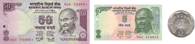 This image shows the notes and coins Amit has