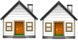 This figure shows the pair of two houses – Choice A