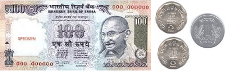 This image shows the notes and three coins has Raghu