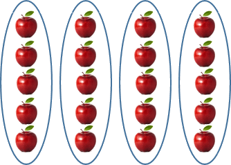 This image shows the many apples