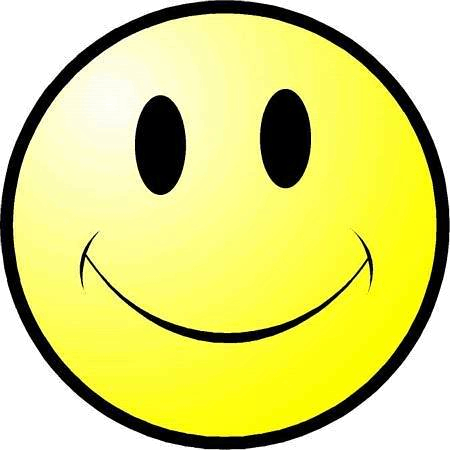 This image shows the yellow face of smiley – Choice B