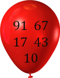 This image shows the balloon in numbers