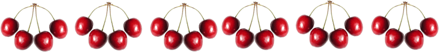 This image shows the 6 bunches of cherries