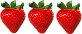 In this image shows the fruit of strawberries – Choice C