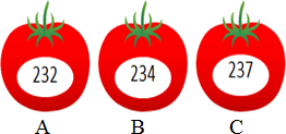 This image show that the number in tomatos