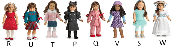 This image shows the different positions in dolls