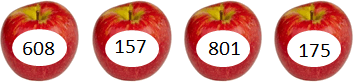 This image shows that the apples with number