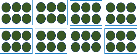 This image shows the boxes each has 6 circles of them