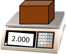 This image shows the weight scale with wooden block