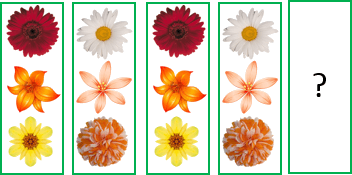 This figure pattern shows the pair of three flowers