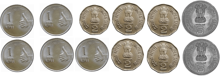 Image shows the some coins
