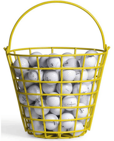 Image shows the balls in a basket