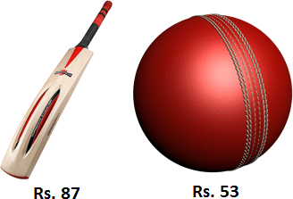 Bat and ball price are given in image