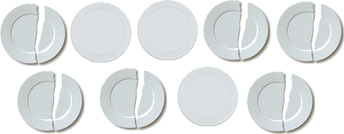Plates are given in image – find fraction of broken plates