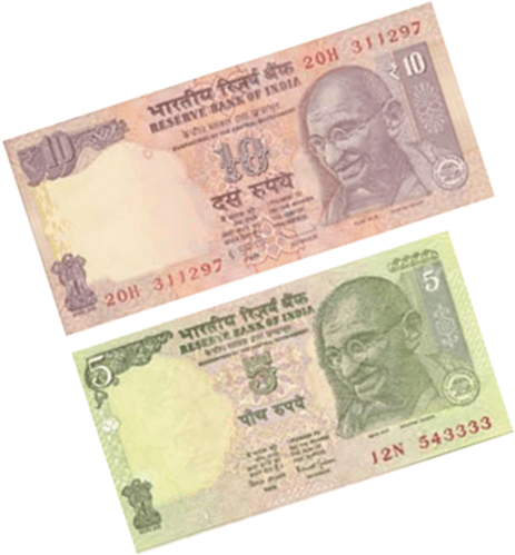 Image shows the some notes of rupees Choice - D