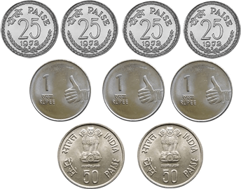 Different coins are given – Find total cost