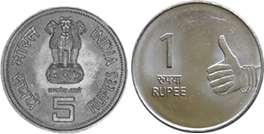 Pair of coins is given in image Choice- C