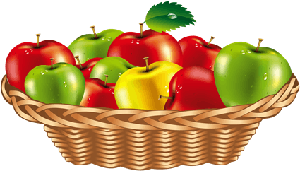 Apples are given in basket