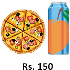 Snacks price are given in image Choice- C