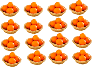 Image of orange in basket