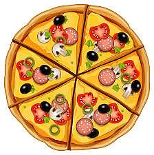 Image shows the pizza