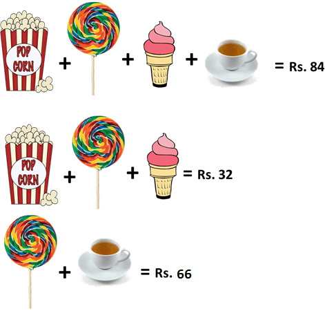 Showing the different snacks with cost in image
