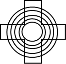 Geometric image made by circles and other angled shape:Choice A