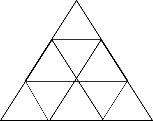 A figure with number of triangles is given