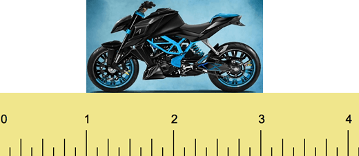 Figure shows one model bike