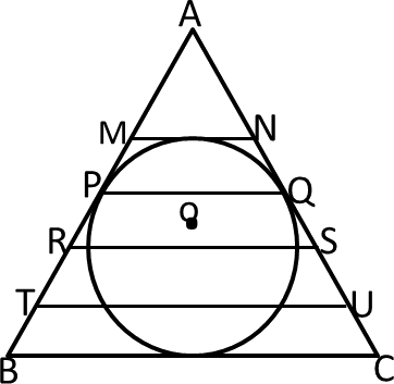 Figure of triangle shows one circle