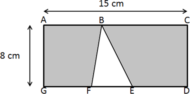 A figure with one rectangle and inside it one triangle is given